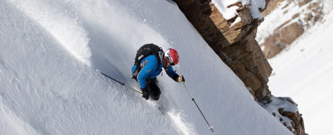 Hank Minor Skiing The Powder